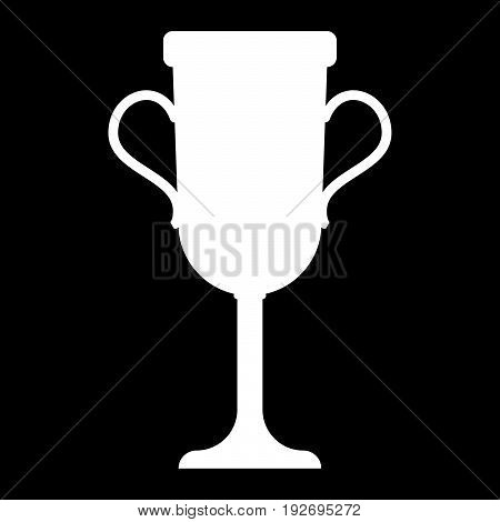 Trophy Cup   It Is The White Color Icon .