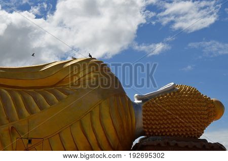 reclining Buddha at the Temple of Thailand