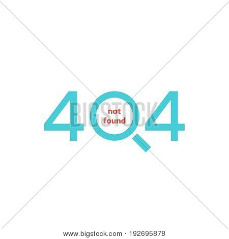 404 error page. Page not found. Vector illustration