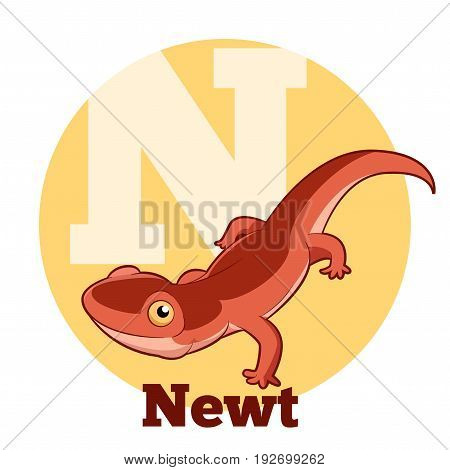 Vector image of the ABC Cartoon Newt