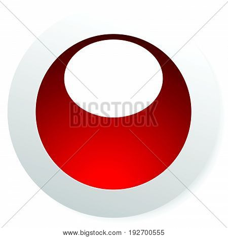 Circle Button With Blank Space And Highlight. Circle Button, Circle Icon With Space For Your Symbol,