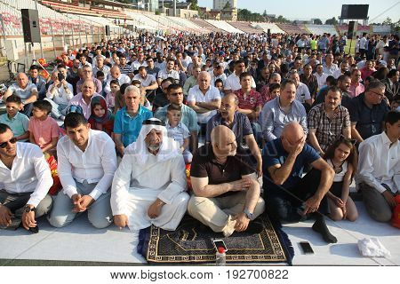 Muslims Celebrating Eid Al-fitr
