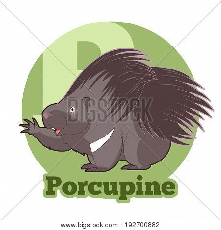 Vector image of the ABC Cartoon Porcupine