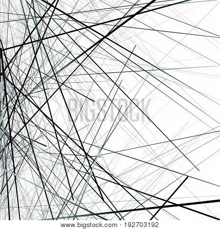Random Chaotic Lines Texture. Abstract Geometric Illustration