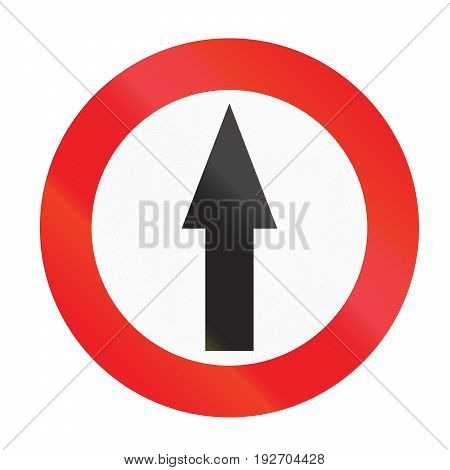 Road Sign Used In Uruguay -  Proceed Straight