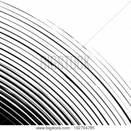Circular Pattern With Spiral, Swirl Element. Abstract Geometric Illustration