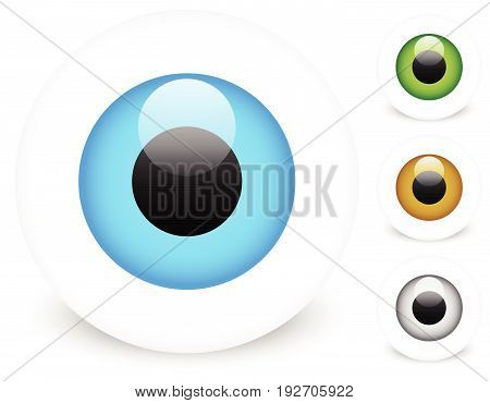 Big Bright Eye. Eye Icon In 4 Color