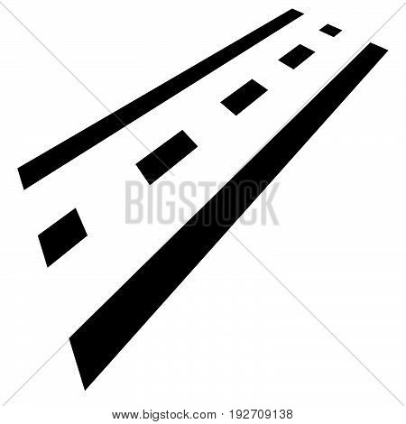 Road Part In Perspective. Multilane Road Symbol, Road Icon