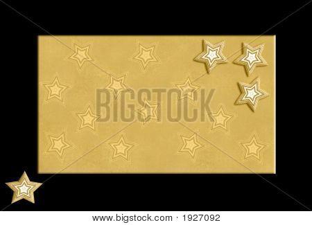 Gold Stars On Black Frame