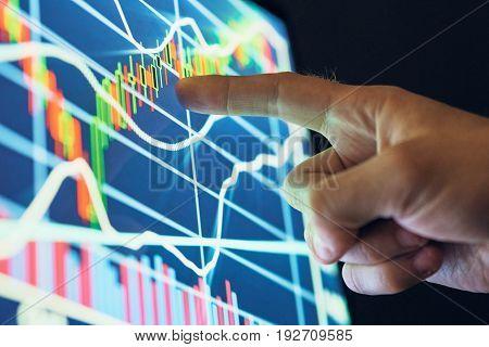 Graph, monitor, screen, programming, system code, program.