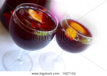 Cups With Sangria