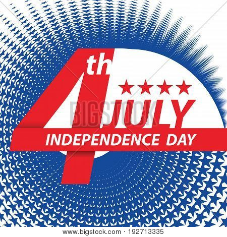 Fourth of July USA Independence day banner design template. vector illustration.