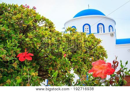 Church of the Nativity of the Blessed Virgin Mary in Kardamena kos island in Greece.