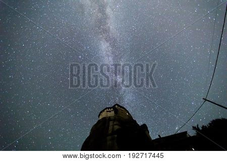 Milky Way Over The Meteora, Greece.