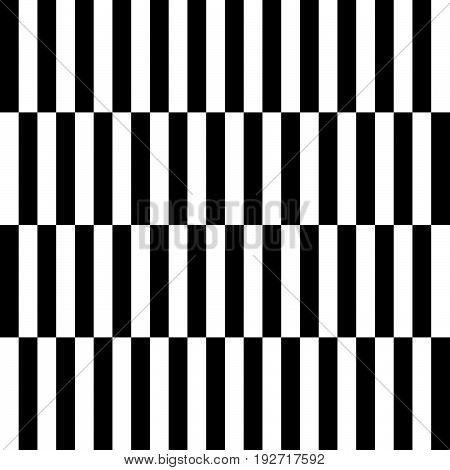 Checkered Geometric Pattern. Abstract Uncolored Pattern With Squares / Rectangles