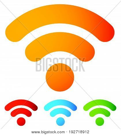 Generic Signal Or Rss Feed Icon. Symbol For Syndication, Wireless Communication Concepts