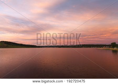 The Sky Beautiful Sunset On The Lake