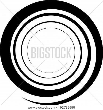 Spiral, Twirl Illustration. Abstract Element With Radial Style And Rotation Effect