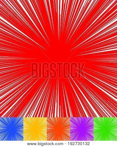 Starburst, Sunburst, Rays Of Light Element. Circular, Radial Lines Pattern As Glimmer, Glitter, Glea