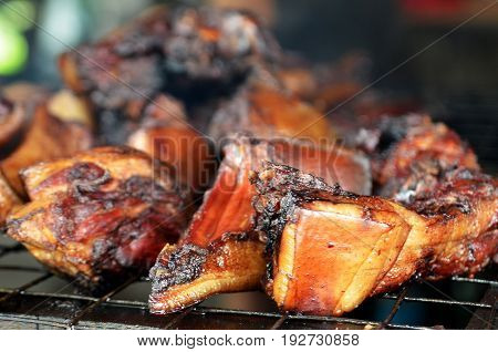 Sinalau Bakas or Smoked Wild Boar is one of Sabah's most popular native dishes an iconic food of Kadazandusun people the largest ethnic group in North Borneo.
