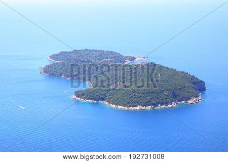Lokrum island near Dubrovnik town, Croatia