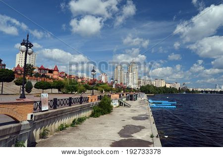 Modern residential area Obolon..June 21 ,2017 in Kiev, Ukraine