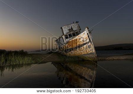 Shipwreck near Point Reyes National Seashore