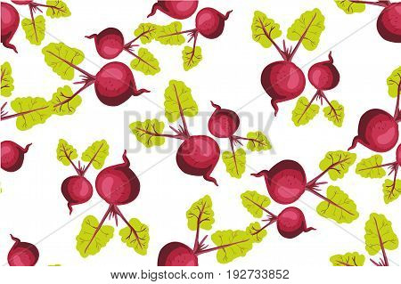 Seamless pattern with beets. Pattern under the mask vector art