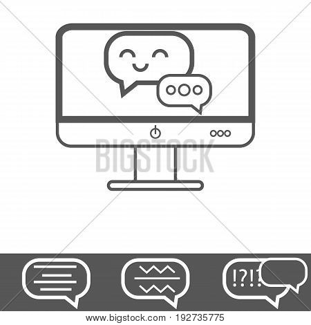 Chat Computer Vector Icon