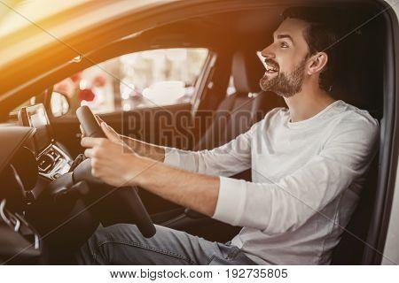 Man In Car Dealership