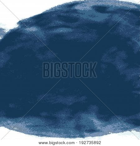 Vector Explosion Smoke Cloud Watercolor. Ink Swirling In Water Isolated White. Abstract Border Frame