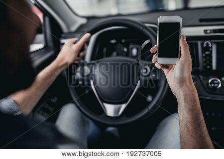 Man At Car Dealership