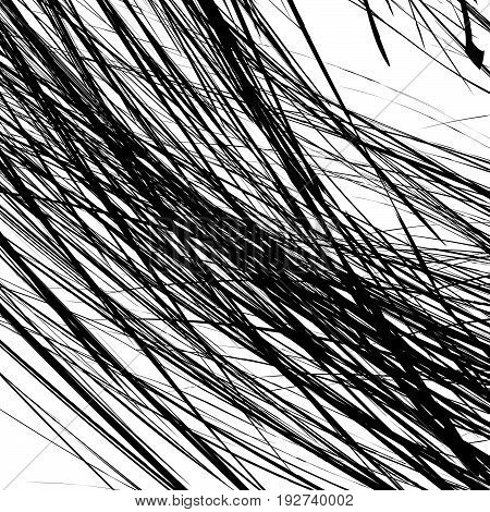 Edgy Texture With Chaotic, Random Lines. Abstract Geometric Illustration