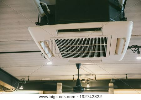 ceiling air conditioner cooling interior at home