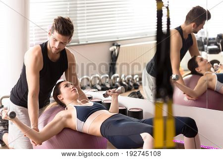 Exercising With Personal Trainer