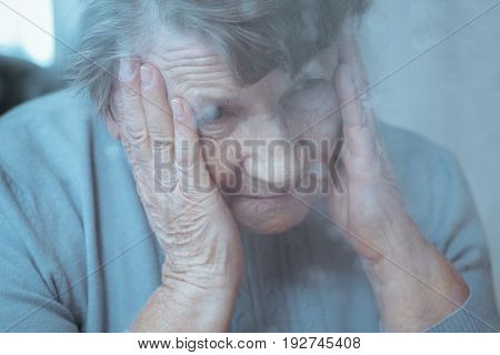 Lady Suffering From Migraine