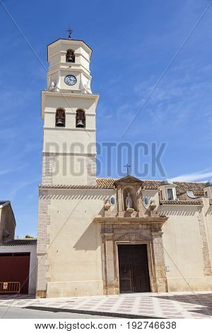 Church in historic town Fuente Alamo de Murcia region of Murcia Spain