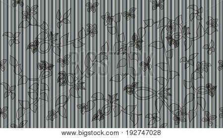 Leaves And Flowers Seamless Background