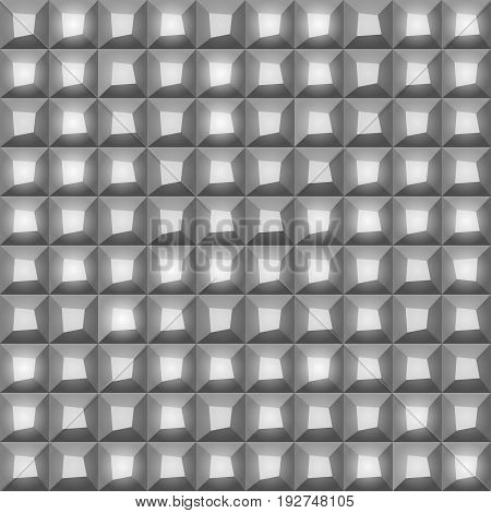 Many gray shades abstract tiling geometric texture. Gray color mosaic tile background. vector art image illustration pattern.