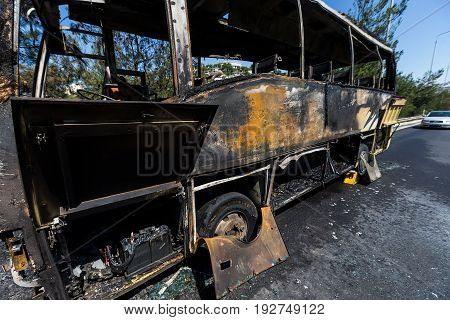 Road Accident With A Tourist Bus