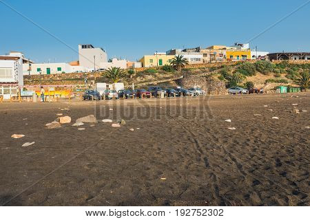 Ajuy, Fuerteventura, Spain, April 01, 2017: Small Fishing Village Ajuy On Fuerteventura Island, Spai