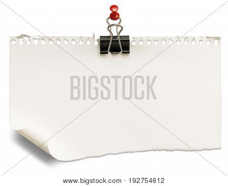 Paper blank sheet white background nobody design