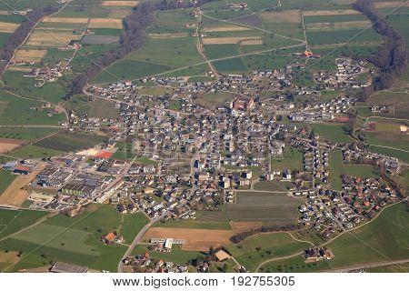 Hitzkirch Canton Lucerne Luzern Switzerland Aerial View Photography