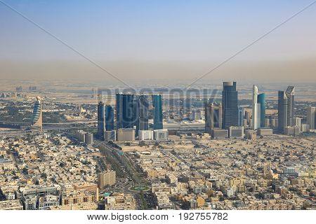 Dubai World Trade Center Downtown Aerial View Photography