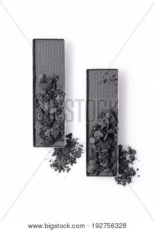 Gray Crushed Eyeshadow For Make Up As Sample Of Cosmetic Product