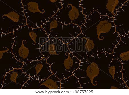 Studded Branches Seamless Pattern