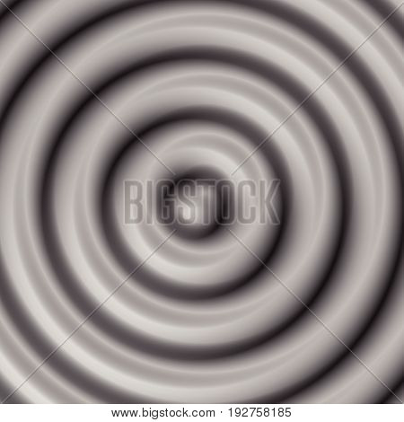 Circular Pattern With Concentric Circles. Faded Overlapping Circle Shapes, Abstract Ripple Effect
