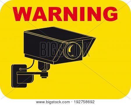 Warning sign for the presence of a CCTV camera