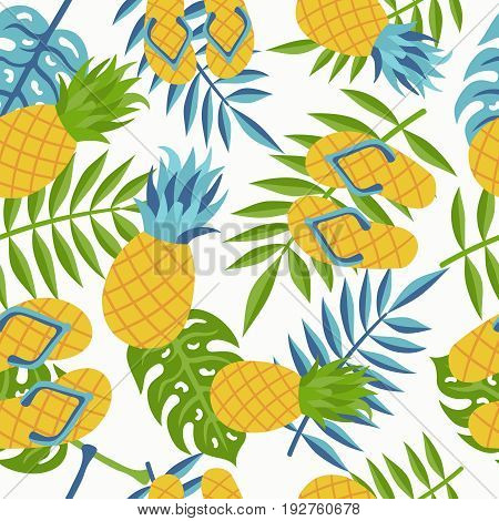Pineapple Tropical Jungle Pattern For Summer
