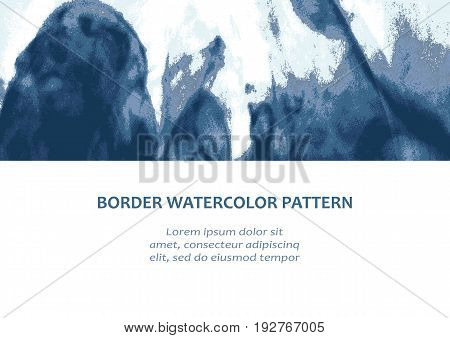 Vector explosion smoke cloud watercolor. Ink swirling in water isolated white. Abstract border frame paints holi liquid ink. Background for banner flyer card poster brochure web design element